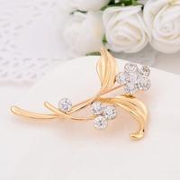Min order is $10(mix order)Promotion Fashion Vintage Brooch Crystal Rhinestone Flower Bride Brooch Pins Women Wedding Brooch