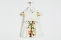 flower girl dresses 2015 Girls Summer new Flowers splice Cotton Dress with belt baby girl dresses 4661