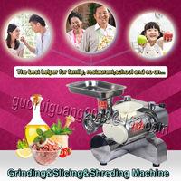 110V/220V, Meat cutting machine for slicing, mincing,grinding,shredding beef,chicken, 120kg/hour