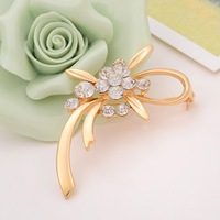 Min order is $10(mix order)New Fashion Jewelry Plated Statement Elegant Colorful Tulip Brooches For Women Party Wedding