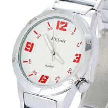 MEGIR Sport Brand Hot Promotions Top Luxury 4 Colors New Fashion Jewelry Casual Sport Men Steel Quartz Watch