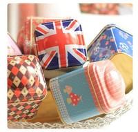 2015 NEW! 12pcs/lot Mini Storage Box Tea Canister Toothpicks Holder Mini Storage Case mixed designs home decoraction Hot!