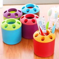 6 Hole Toothbrush Holder  Banheiro Toiletries Porous Couple Desktop Bathroom Sets Storage Rack Suit Bathroom Accessories YS1006