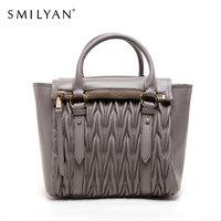 Smilyan genuine leather bag fashion shoulder bags desigual bolsas femininas women famous brands designer handbags high quality