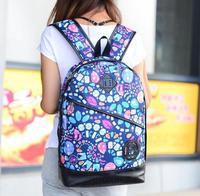 Cool cute Women Backpack fashion enfriar floral PU Lady school bags women travel bags bolsas mochilas femininas
