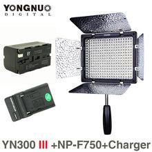Yongnuo YN300 III 5500K CRI95 LED Video Light w NP-F970 Battery & Charger DSLR Camera Photography Photo Studio lighting Lamp