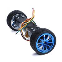 upgraded version] [self balancing two wheeled vehicle 2WD metal motor two wheeled balancing car intelligent car chassis