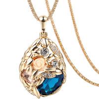 2015 luxury fashion Bohemian Crystal Pendant Necklace
