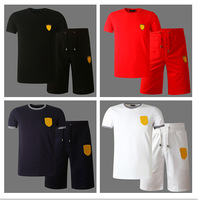 hot selling fashion summer men's brand Clothes Sets 100% Cotton casual sports clothing new workout sport t shirts shorts Suits