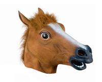 Masquerade Creepy Horse Mask Head Halloween Costume Theater Prop Novelty Latex Rubber