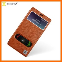 """Xiaomi Hongmi/Red Rice/Redmi Note 5.5"""" Cover Real Genuine Cowhide Leather phone Case Original icarer xoomz brand View Window"""