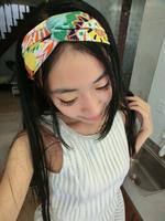 2015 new women elastic spandex abstract twist headband turban, double layer seam inside