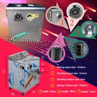 110V/220V double motors electric meat  slicer, meat grinding cutting machine,12 months warranty