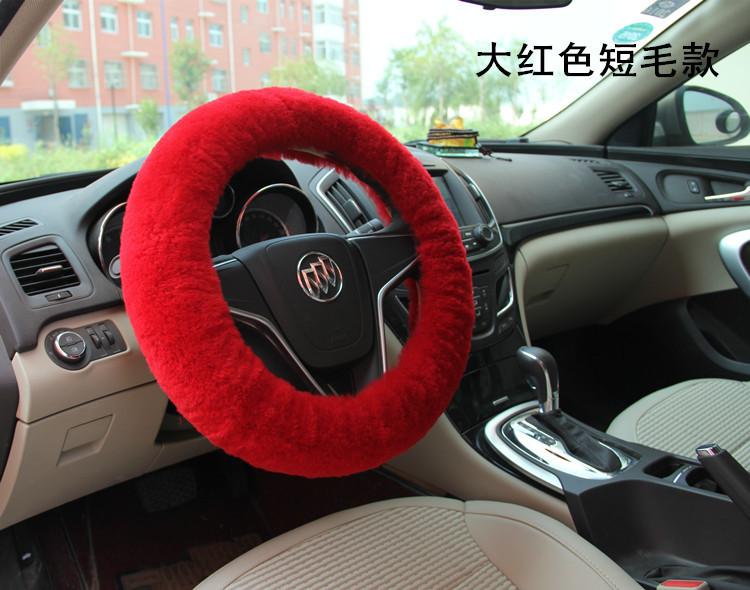 Premium Soft Short Plush Winter Car Steering Wheel Cover Vehicle Grips Skin(China (Mainland))