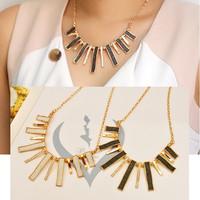 Elegant women ,all-match fashion Necklace metal geometric Matte texture Collar Necklace