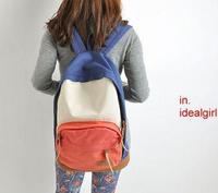 New 2015 Casual Colorful Canvas Women Backpack fashion Lady rucksack student school bags travel bags bolsa mochila feminina