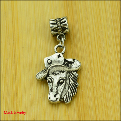 30pcs Fashion Big Hole Loose Beads Horse European Pendant Beads Fits Pandora Charms Bracelets pendants diy