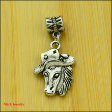 30pcs Fashion Big Hole Loose Beads Horse European Pendant Beads Fits Pandora Charms Bracelets & pendants diy Jewelry CQ070
