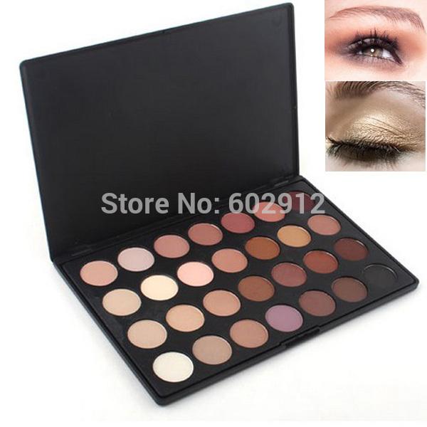 Pro 28 Color Neutral Warm Matte Eyeshadow Palette Eye Shadow Makeup Cosmetics Set Sombras Paleta De Maquiagem Maquillage Kit(China (Mainland))