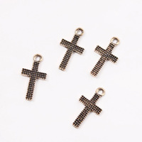 New 90pcs/lot Wholesale Hotselling Cross Bronze Alloy Charms Fit Jewelry Necklace Making 17*10mm 147447