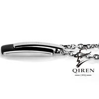 black color high quality fashion men stainless steel siver chain Charm Necklaces & Pendants Men Jewelry Wholesale For men  acces