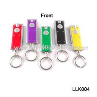 (240pcs/lot ) rectangle led key chain light, ABS material ,mixed colors,60pcs/ box,free shipping ,