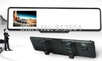 "2.7"" FULL HD 720P Car DVR Car Rearview Mirror 140 degree view angle G-sensor"