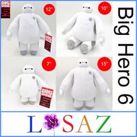 One Piece Children's Gift BigHero 6 Baymax Stuffed Plush Brinquedos Soft Baby Toys Juguetes SIZE 7'' & 10'' & 12'' & 15''