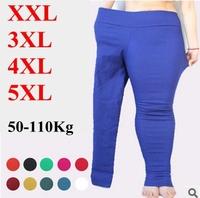 New Arrival Spring and Autumn king size  XXL-5XL Denim Cotton Women leggings  women's pants fat female trousers free shipping