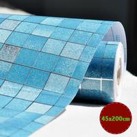 Funlife 45x200cm Mosaic 4 Colors Aluminum Foil Self-adhensive Anti Oil Wallpaper for Kitchen High Temperature resistant wp1021