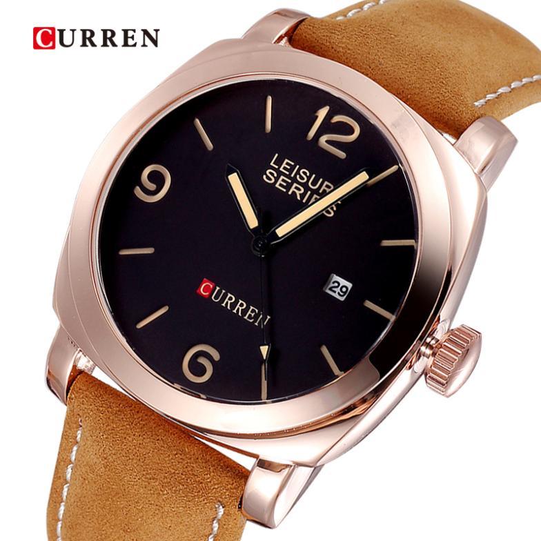 Men Fashion Brand Logo Brand Curren Watch Men Fashion