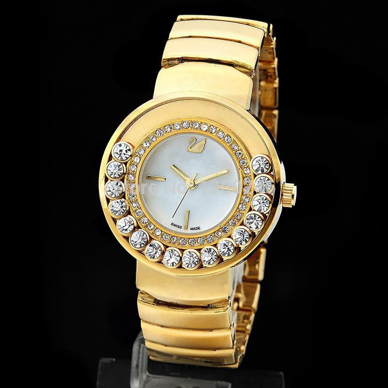 wholesale SWA-KI Women Diamond Watch.Fashion casual bracelet wrist watch, new quartz watch, free shipping(China (Mainland))