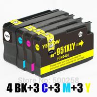 13 ink cartridge (3set+1BK) compatible with HP 950XL  951XL 950 951 for printer Officejet Pro 251dw 76dw 8630