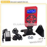 Hot Selling 600D-BX10 Red Tattoo Power Digital Dual LCD Display Tattoo Power Supply For Tattoo Machine Gun Kits Free Shipping
