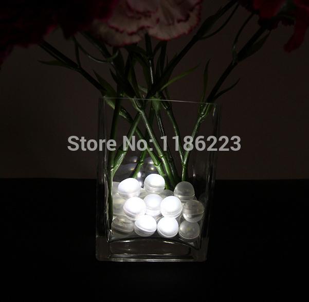 12Pcs/lot White LED Lights Romantic Wedding Christmas Party Decoration Function Decor Supplies(China (Mainland))