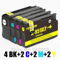 10 ink cartridge (2set+1BK) compatible with HP 950XL  951XL 950 951 for printer Officejet Pro 8610 251dw 276dw