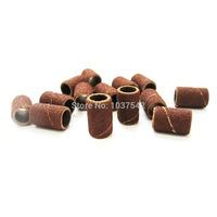 A8 Free Shipping 50pcs/lot Sanding Bands Drills Bit 80 120 180 Machine UV Acrylic Nail Art Polish lap T1017 P