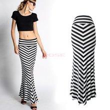 New Fashion Summer Sexy Women Long Skirts Vestidos Casual Striped Printed Womens High Waist Skirt Long Maxi Skirt Female(China (Mainland))