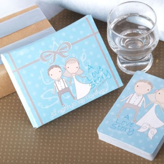 Wedding Supplies Favors Party Gifts,12set/lot A Love Story Playing Cards(China (Mainland))