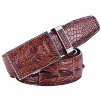 men belt cowhide leather pin buckle  fashion crocodile skin blet  genuine leather alligator skin print strap belts free shipping
