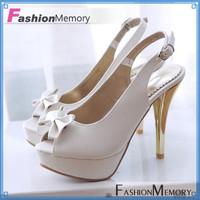 Brand New High Open Toe Summer Pumps Shoes Elegant Back Strap Platform Summer Sandals For 2015 Party Wedding Pumps