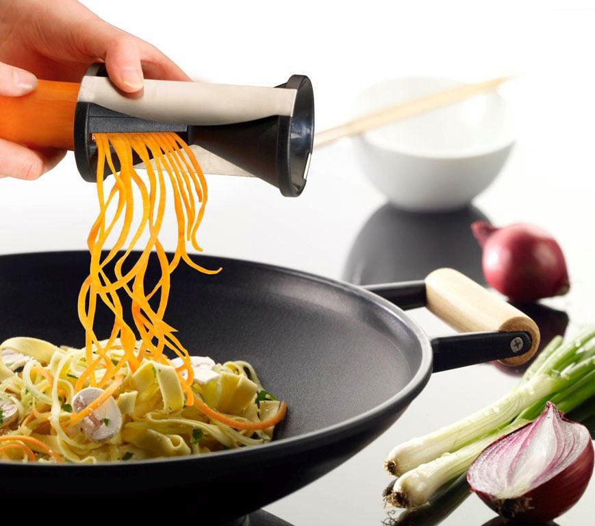 Vegetable Fruit Spiral Shred Process Device Cutter Slicer Peeler Kitchen Tool Slicer spirelli spiralizer julienne cutter KC37404(China (Mainland))