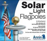 I Set 20 LEDs Solar Powered Flag Pole Light Solar Outdoor Garden Super Brightness  Umbrella Landscape LED Spotlight
