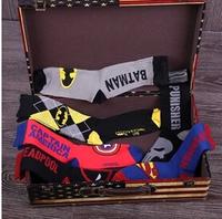 Hot Sale Super Heroes Cartoon Socks Cotton Meias Men's Sock Calcetines Free Size 5 Colors