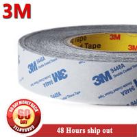 70mm*50M*0.15mm Original 3M 9448 Tissue Fabric Double Adhesive Black Tape for Windows Screen Foam Bond, High Temperature Resist