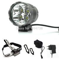 2015 New 5200 Lumen 4xCREE XM-L T6 Bike Bicycle Light LED Light Flashlight Headlamp 8.4V + 6400mah Battery Pack & Charger