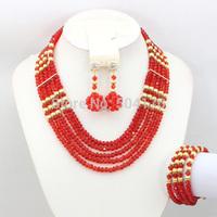 Smart Bride Jewelry Set Brand Set Indian Beads Crystal Jewelry Set Latest Design Hot Beads Set Free Shipping GS927
