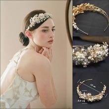 2015 Diseño exquisito novia de la boda Sombreros joyería del pelo perla de los granos Tocados Tiara Corona Novia Pelo Pasadores Accesorios de boda(China (Mainland))