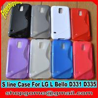 TPU Case for LG L Bello ,S Line TPU Case Anti-skid design for LG L Bello D335 D331, 10pcs/lot,Free shipping