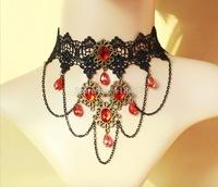 WHOLESALE vintage lace punk collar, vampire  black lace choker FREE SHIPPING